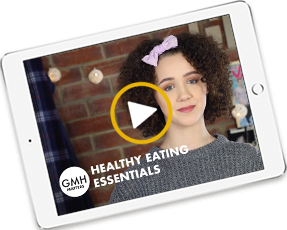 thumbnail of healthy eating essentials video on ipad screen